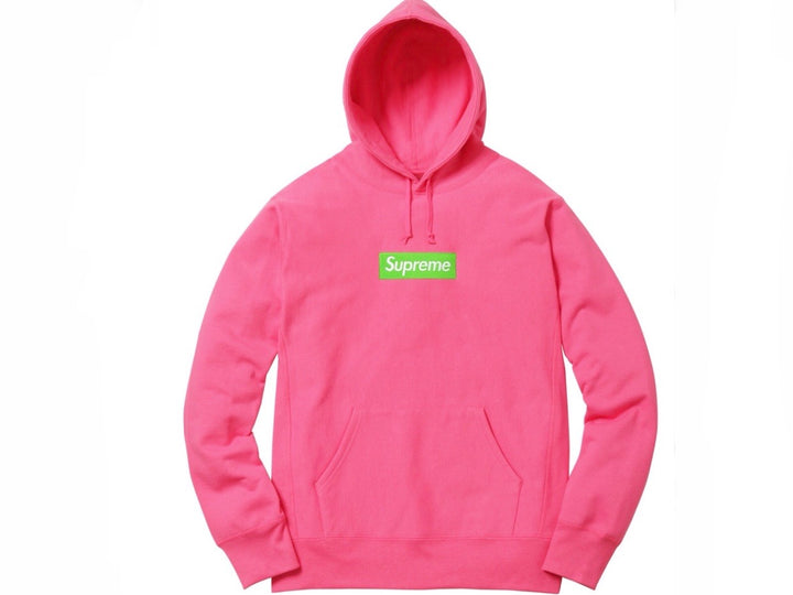 Supreme Box Logo Hooded Sweatshirt Magenta FW17