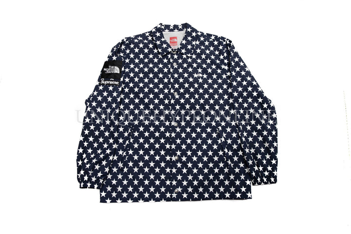 Supreme The North Face Packable Coach Jacket Stars SS15 Navy