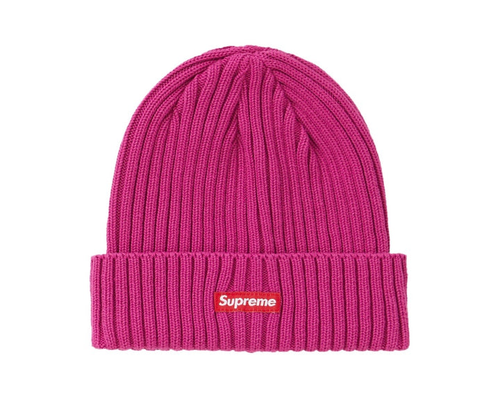 Supreme Overdyed Ribbed Beanie Magenta SS20