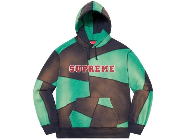 Supreme Patchwork Hooded Sweatshirt Navy FW20