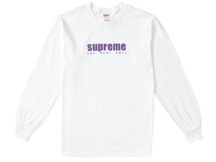 Supreme The Real Shit Long Sleeve T-shirt White SS19