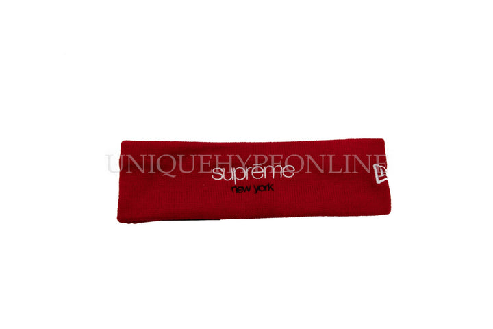 Supreme New Era Classic Logo Headband FW15 Red
