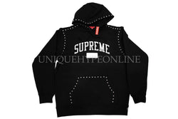 Supreme Studded Hooded Sweatshirt FW18 Black
