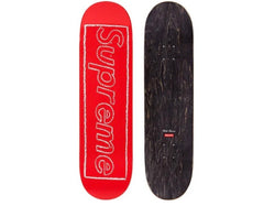 Supreme KAWS Chalk Logo Skateboard Deck Red SS21