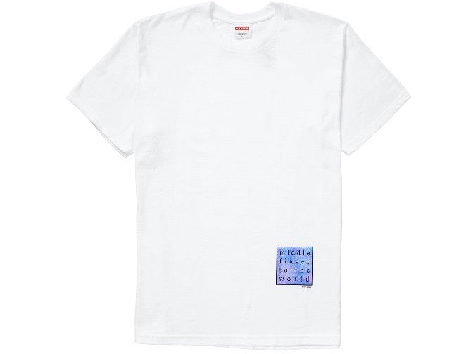 Supreme Middle Finger to the World T-shirt White SS19