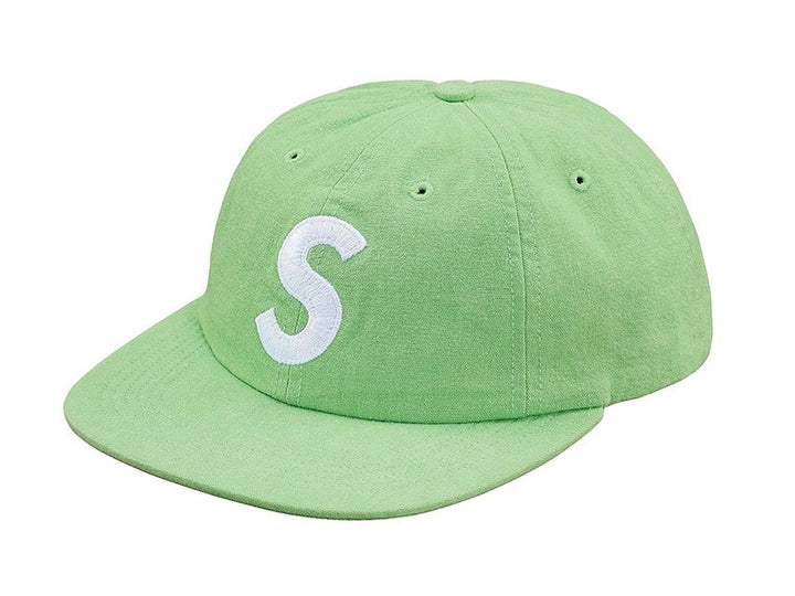 Supreme Washed Chambray S Logo 6 Panel Green SS18
