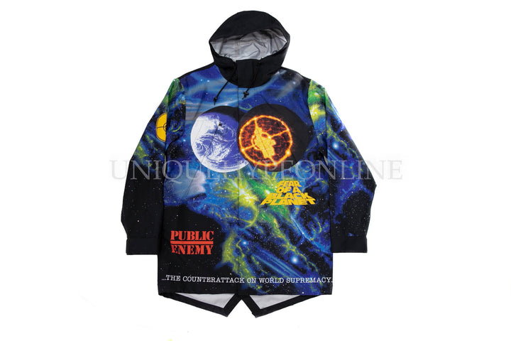 Supreme UNDERCOVER/Public Enemy Taped Seam Parka SS18 Multi