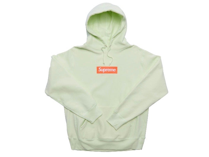 Supreme Box Logo Hooded Sweatshirt FW17 Pale Lime