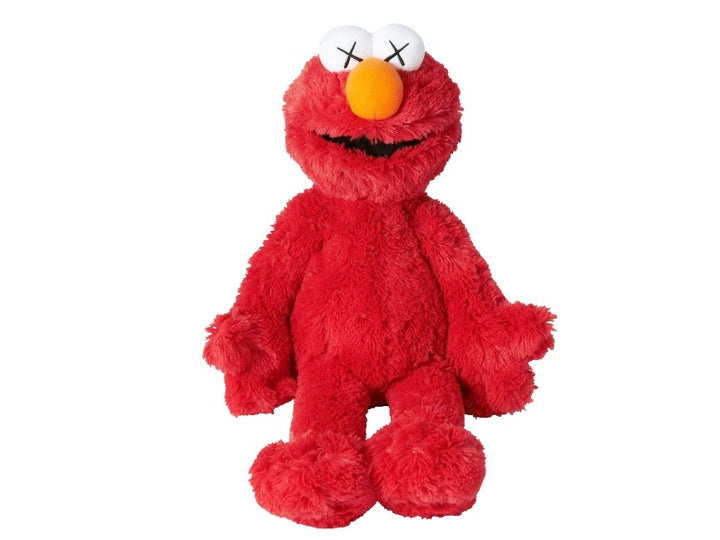 KAWS x Sesame Street x Uniqlo Elmo Plush Toy Red FW18