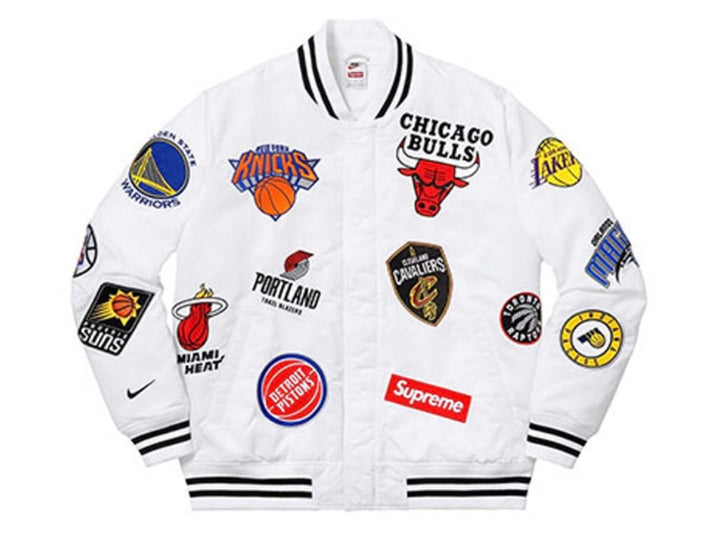 Supreme Nike/NBA Teams Warm-Up Jacket White SS18