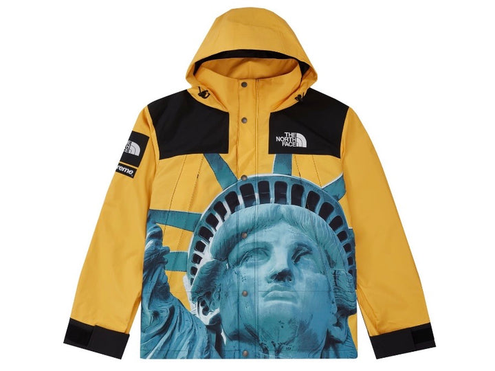 Supreme The North Face Statue of Liberty Mountain Jacket Yellow FW19