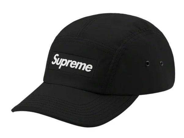 Supreme Inset Logo Camp Cap Black FW20
