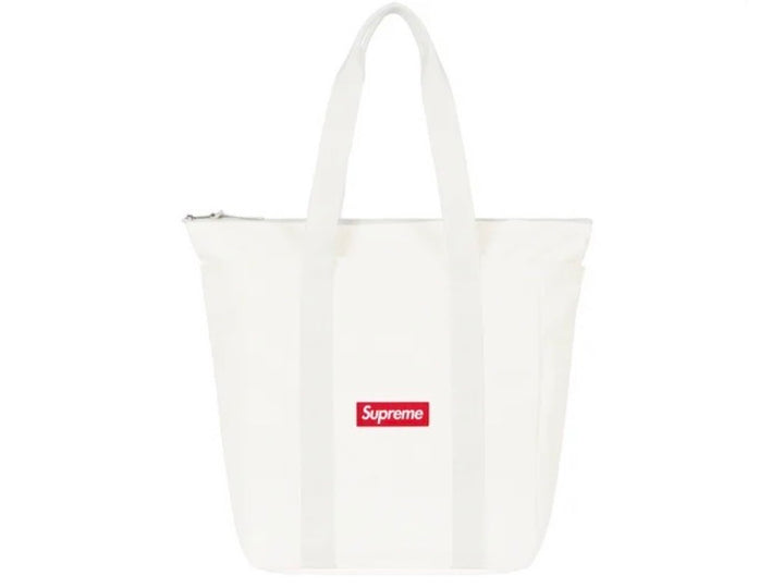 Supreme Canvas Tote Bag White FW20