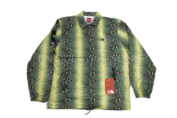 Supreme The North Face Snakeskin Taped Seam Coaches Jacket SS18 Green
