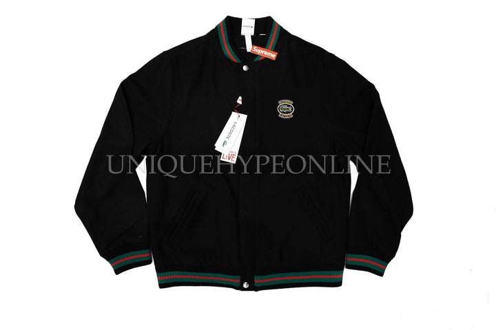 Supreme Lacoste Wool Varsity SS18 Black