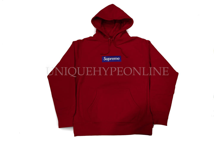 Supreme Box Logo Hooded Sweatshirt FW17 Red