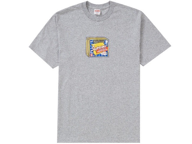 Supreme Cheese T-shirt Heather Grey FW19