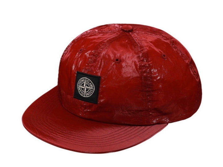 Supreme Stone Island Silk Light 6 Panel Red SS19