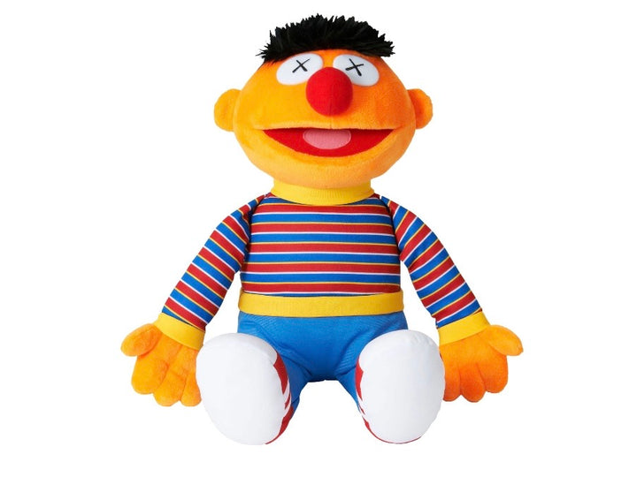 KAWS x Sesame Street x Uniqlo Ernie Plush Toy Orange FW18