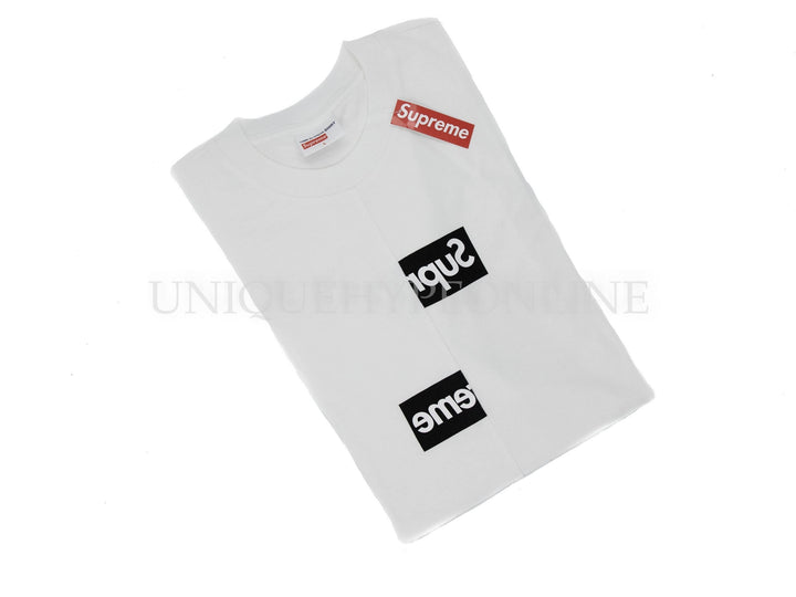 Supreme Comme des Garcons SHIRT Split Box Logo T-shirt White FW18