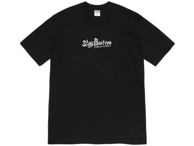 Supreme Stay Positive T-shirt Black FW20