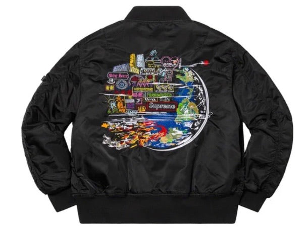 Supreme Globe MA-1 Jacket Black FW20