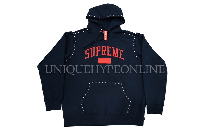 Supreme Studded Hooded Sweatshirt FW18 Navy