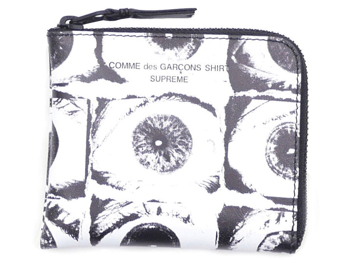 Supreme Comme Des Garcons SHIRT Large Eyes Coin Pouch White SS17