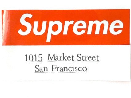 Supreme San Francisco Box Logo Sticker