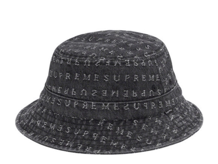 Supreme Jacquard Logo Denim Crusher Black SS20