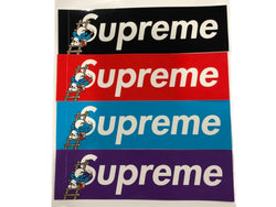 Supreme Smurf Box Logo Stickers FW20