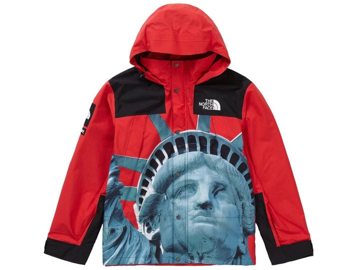 Supreme The North Face Statue of Liberty Mountain Jacket Red FW19