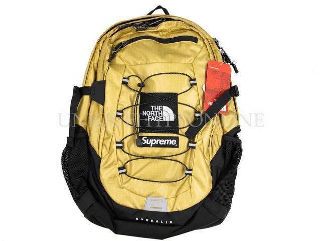Supreme The North Face Metallic Borealis Backpack SS18 Gold
