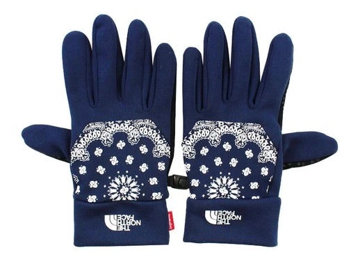 Supreme North Face Bandana Gloves Navy FW14