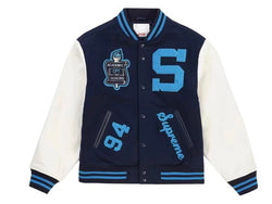 Supreme Team Varsity Jacket Navy FW19