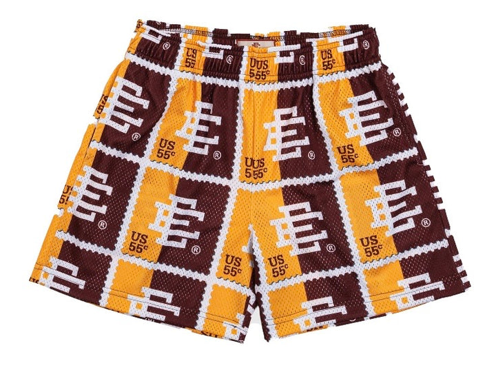 Eric Emanuel EE Basic Stamp Short Maroon/Yellow