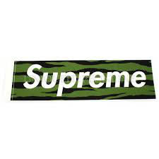Supreme Olive Tiger Camo Box Logo Sticker