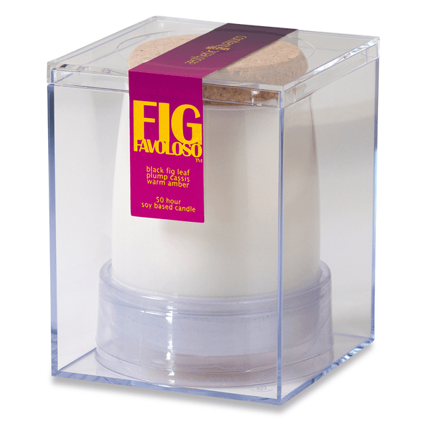 Fig Favoloso Scented Soy Jar Candle - fig leaf, black currant, coconut, jasmine