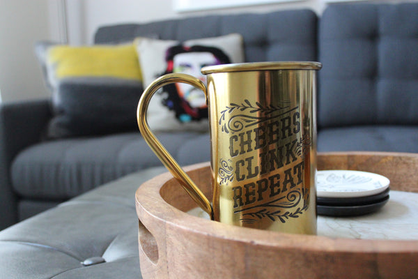 Brass Beer Jug (Cheers, Clink, Repeat)