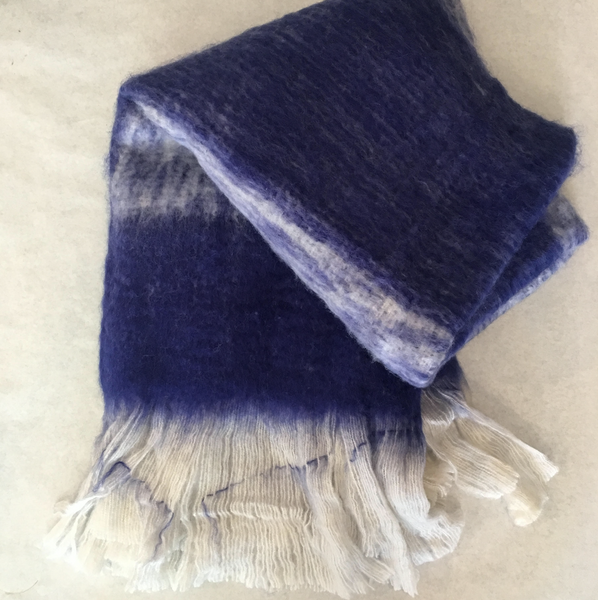 Woolen Indigo Ombre Karma Living Throw