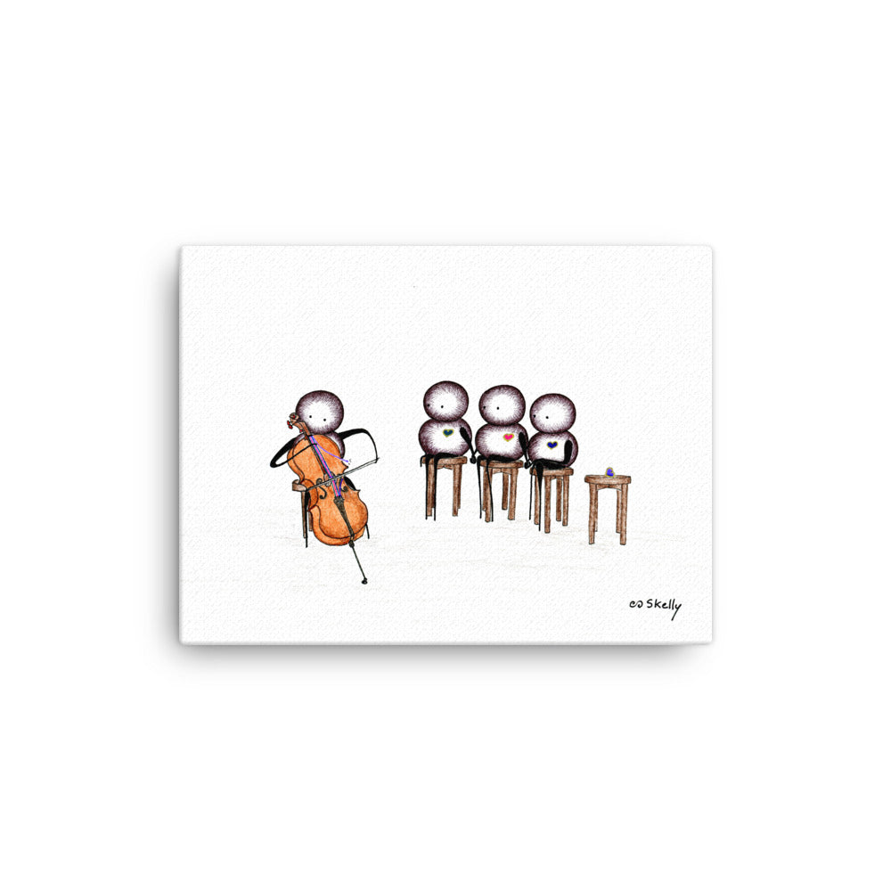 Cello, Premium Canvas Prints