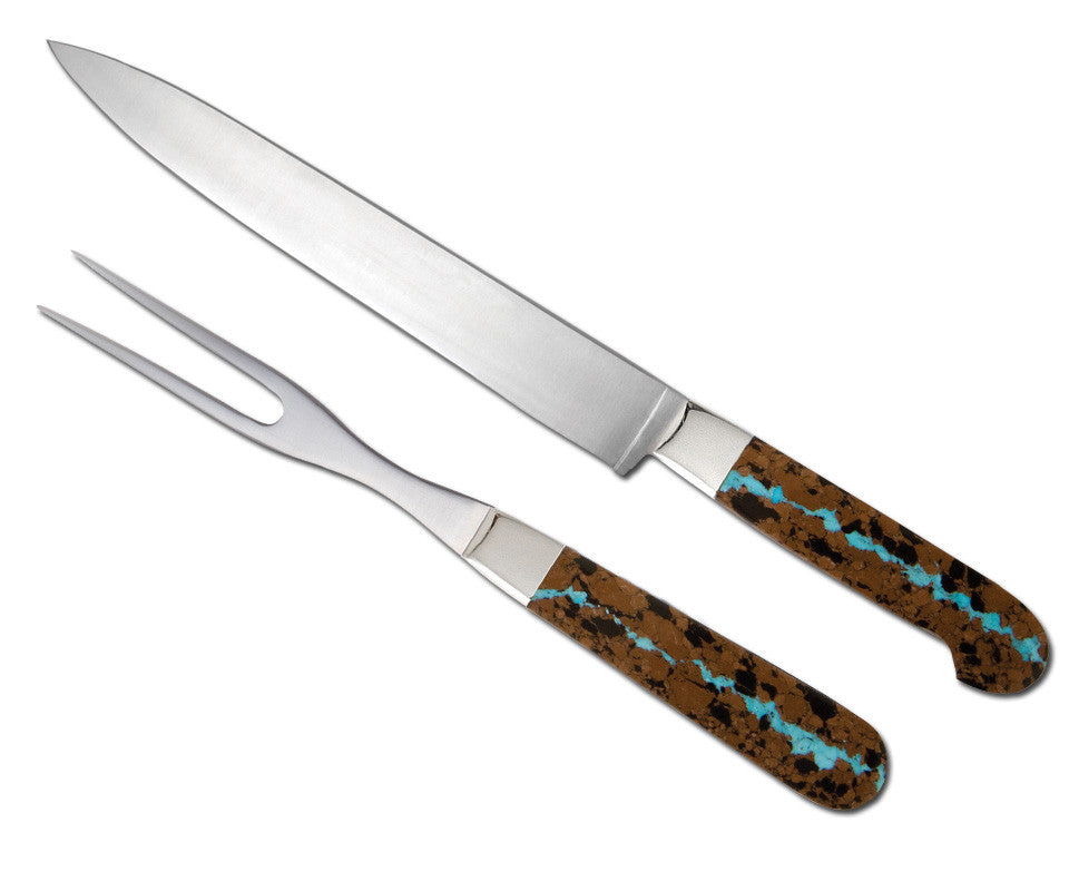 Vein Turquoise Collection Carving Set