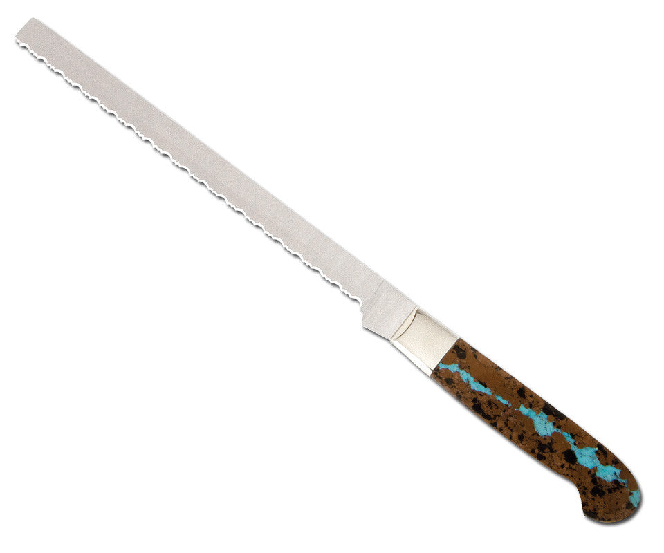 Vein Turquoise Collection Bread Knife