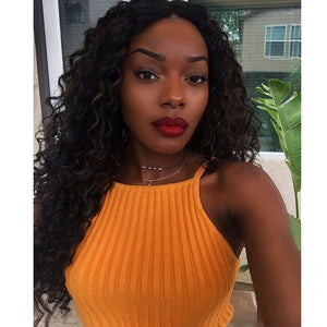 Glueless Curly Full Lace Wig Pre Plucked with Baby Hair