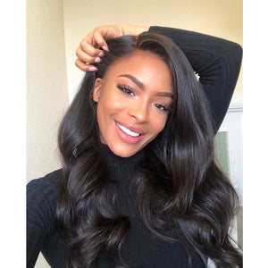 Body Wave Full Lace Wig Pre Plucked Hairline With Full Ends