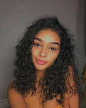 Load image into Gallery viewer, Glueless Curly Full Lace Wig Pre Plucked with Baby Hair