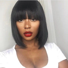 Load image into Gallery viewer, Hot Sale Bob With Bangs Human Hair Lace Front Wig