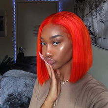 Load image into Gallery viewer, Pinwigs Hair Red Bob Full Lace Wig/Lace Front Wig , Pre Order take 5-7 Business Days to Customize