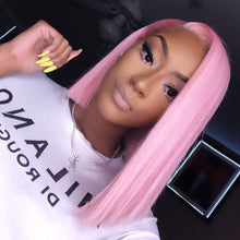 Load image into Gallery viewer, Pinwigs Hair Pink Bob Full Lace Wig/Lace Front Wig , Pre Order take 5-7 Business Days to Customize