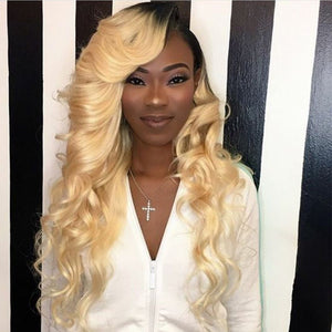 Pinwigs 1B Roots 613 Body Wave/ Straight Full Lace Wig , 100% Human Hair, Pre Order take 5-7 Business Days to Customize